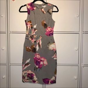 Trina Truck Grey Floral Dress Size 2